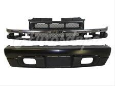98-04 CHEVY S10 PICKUP 4WD FRONT BUMPER BLACK FACE BAR VALANCE GRILLE CHR/ARGENT