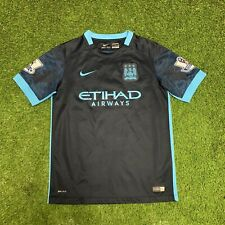 2015 2016 Manchester City Dark Blue Away Jersey Shirt Kit Youth Large L Nike Epl
