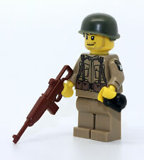 WW2 US Army 101st Airborne Ranger Soldier Minifigure made with real LEGO(R) part