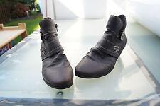 schicke RIEKER Damen Winter Schuhe Stiefel Stiefelette Boots Gr.40 Leder warm #i