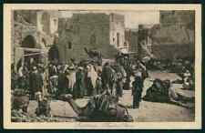 Bethlehem Market place Ethnic people Palestine Judaica arab old c1920 postcard