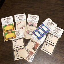 RARE Vintage Gold Rush Enterprises LABELS Kitchen Canning Freezer Home Packaging