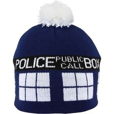 New Elope DR. WHO TARDIS Pom Beanie Blue Costume Halloween Theater gift Unisex