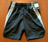 NWT NIKE BOYS SIZE YOUTH SMALL ~ DRI-FIT ~ BLACK & GRAY ATHLETIC SHORTS MSRP $30