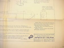 Cross and Cockade Sopwith 5 F.1 Dolphin Engineering Drawing Model Airplane Plan