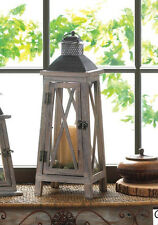 """large rustic 19"""" weathered wood metal Candle holder lighthouse Lantern outdoor"""