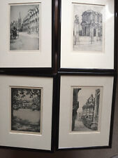 Old 1930's Oxford Prints Bodleian Library Radcliffe Colleges   L.Russell Conway
