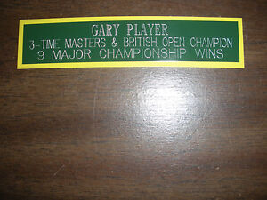 GARY PLAYER NAMEPLATE FOR SIGNED BALL DISPLAY/PHOTO DISPLAY
