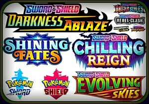 50x SWORD & SHIELD CODE MIX Pokemon Online Booster Codes Random Code EMAIL FAST