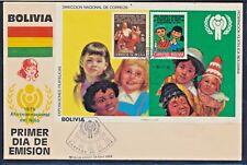 Bolivien Block 97 auf Brief gestempelt / Jahr des Kindes (6987) ................