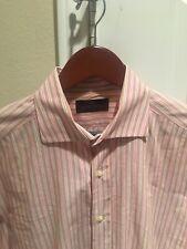 Etro Milano Shirt Men's M Size 40 Long Sleeve Button Front Striped Cotton Italy