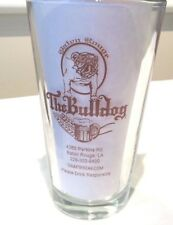 "THE BULLDOG BATON ROUGE, LA 16 OZ BEER GLASS BULLDOG ""TIN ROOF BREWING CO."""