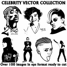 Celebrity Vector Image Collection Eps,Clipart,Vinyl Plotter FREE P&P