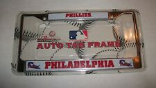 Phillies Philadelphia MLB Metal Auto Tag Frame   BRAND NEW!