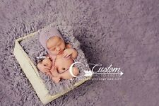 Lilac Frost Vegan Fur Newborn Photo Prop, Photography Props, Basket Stuffer