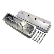 SB Chevy Vortec Fabricated Polished Aluminum Valve Covers 350 Center Bolt 350