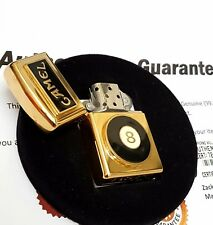 24ct Gold Plated Metal Petrol Camel 8 Ball Joe Zippo Lighter Flint Gift Box 1993