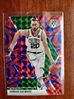 GORDON HAYWARD 2019-20 NBA Mosaic PRIZM Blue Reactive #119 BOSTON CELTICS