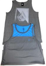 2 Lot volcom men's grey sleeveless regular tank top L