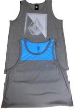 2 Lot volcom men's grey sleeveless regular tank top L