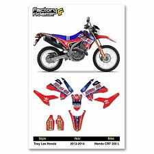 2013-2014 HONDA CRF 250 L  Dirt Bike TLD Graphics kit Motocross Graphics Decal