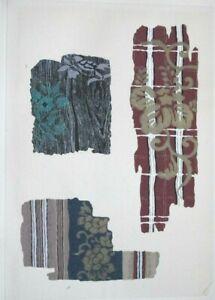 HISTORICAL KIMONO / FABRIC DESIGNS III - Original Meiji Japanese Woodblock Print