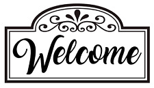 Welcome with Border Vinyl Decal, For Home, Business, Office, Windows, Outdoors