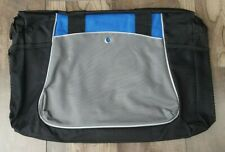 "Plain Canvas Sports Travel Duffel Bag BLACK & Blue Size: 18"""