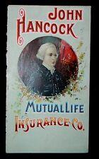 Antique Very Rare 1892 John Hancock Mutual Life 30th Annual Statement Trade Book