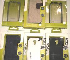 PureGear DualTek-Slim Shell-FabFolio Case for Samsung Galaxy S4 Mini i9195/i9198