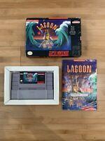 Lagoon SNES Super Nintendo Complete CIB Original Manual Authentic - Ships Fast