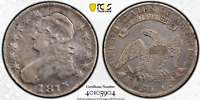 1813 Capped Bust Half Dollar 50C/UNI PCGS F Fine Details Looks almost VF