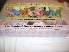 Lot of 14 Assorted Easter Bunny Spring Time Animal Plush Collectables New on Box