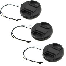3-Pack 58mm Front Lens Cap Cover with Cap Keeper For Canon, Nikon, And Others