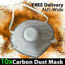 10x Carbon Dust Mask Respirator with Valve Disposable Protective Garden Auto