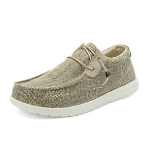 Mens Lightweight Slip On Loafer Walking Casual Sneakers Canvas Shoes Size 6.5-13