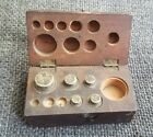Set 5 Antique Apothecary Balance Scale Weight