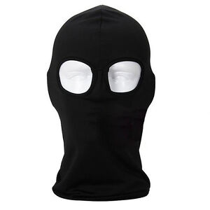 2 Hole Tactical Airsoft Balaclava Outdoor UV Protection Cycling Full Face Cover