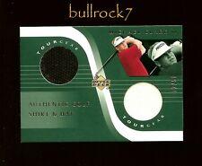 MICHAEL CLARK II 2001 Upper Deck Golf Tour Gear Shirt Hat Swatch #12/50 #0949