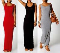 Damen Neu Strandkleid Sommerkleid BOHO Style Maxi Lange Kleid Stretch S M L XL
