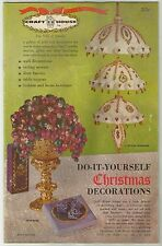 VINTAGE DO-IT-YOURSELF CHRISTMAS DECORATIONS CRAFT MAGAZINE c1964
