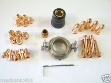 """33 PC 60 AMP DELUXE CONSUMABLE KIT EASTWOOD VERSA CUT PLASMA CUTTER TORCH """"READ"""""""