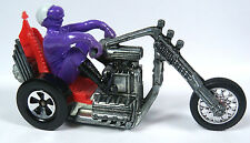 Mattel Hot Wheels Rrrumblers Redline Era Motorcycles Torque Chop w/ Purple Rider