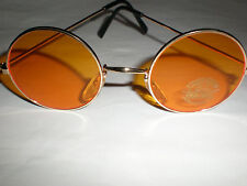 AMBER WITH GOLD FRAME ROUND SUNGLASSES SPECS STEAMPUNK/GOTHIC/VAMPIRE WHITBY