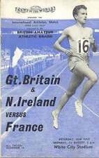 Gran Bretaña e Irlanda del Norte / Francia 1960 Atletismo Prog White City Stadium