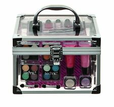 Clear portare tutti Baule Beauty Case Cosmetici Gift Set Manicure Pedicure Tool Kit