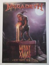 """MEGADETH `Marry Christmas/Happy New Year` poster 27""""x19"""" (67x48cm)"""