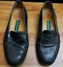 Cole Haan Black Leather Montgomery Penny Loafers Men 10M