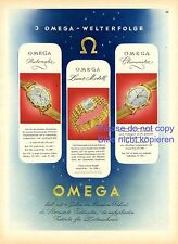 Omega watches XL swiss 1944 ad chronometer advertising watch clock automatic