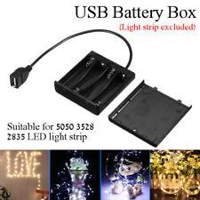 DC5V Portable Mini USB Power Supply Battery Box For 5050 3528 LED Strip Light